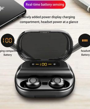 LIGE TWS 5.0 Bluetooth 9D Stereo Earphone